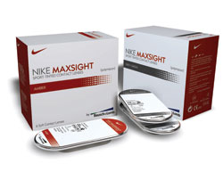 wholesale dealer a7d69 c5e30 Nike Maxsight, from Bausch  Lomb and developed with Nike, is a  sport-tinted, soft contact lens for athletes that selectively filters  specific wavelengths ...
