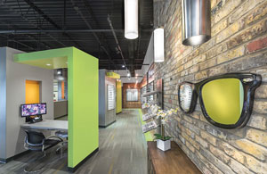 Dr. Robert Incorporated A Bold Lime Green And Orange Color Scheme With An  Open Loft Design, Giving Patients ...