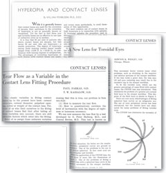 Contact lens pioneers often debuted their latest thoughts in Review of Optometry.
