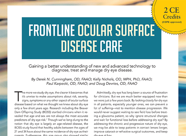 Frontline Ocular Surface Disease Care