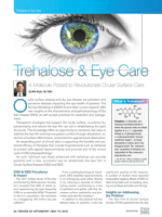 Trehalose & Eye Care - May 2018 - Sponsored by TheraTears