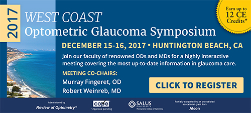 2017 West Coast Optometric Glaucoma Symposium - December 15-16, 2017 - Huntington Beach, California - Click to Register