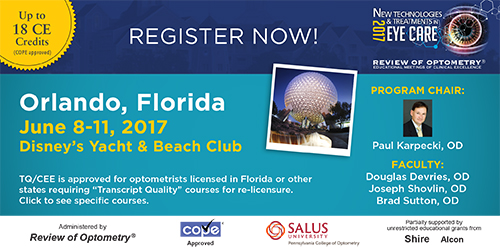 New Technologies and Treatments in Eye Care 2017 - Orlando, Florido