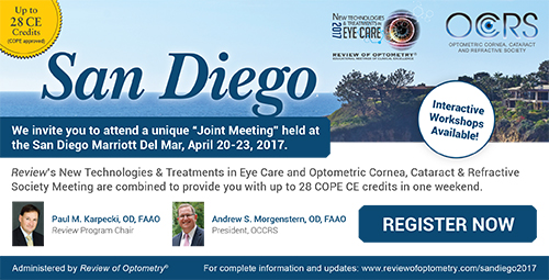New Technologies and Treatments in Eye Care and OCCRS 2017 - San Diego, California
